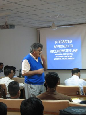 Lecture on groundwater related legislation